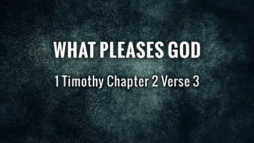 What pleases God