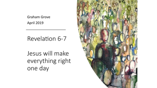 Jesus will make everything right one day