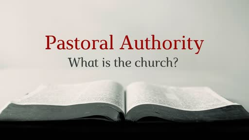Pastoral Authority