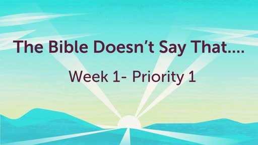 """The Bible Does Not Say """"God Helps Those That Help Themselves""""  4-28-19"""