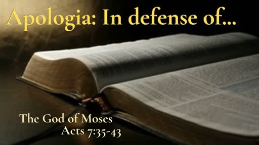 Sunday April 28: In Defense of Moses