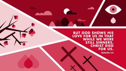 Romans 5:8 verse of the day image