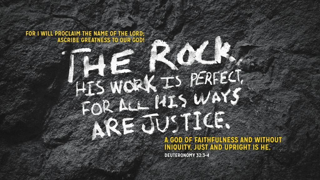 Deuteronomy 32:3–4 large preview