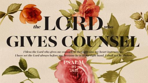 Psalm 16:7–8 verse of the day image