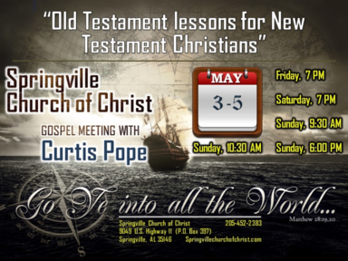 Old Testament Lessons for New Testament Christians - Psalms 23