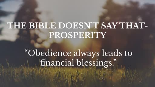 Obedience always leads to financial blessings  5-5-19
