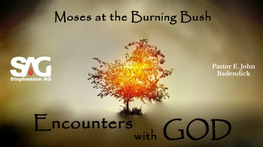Divine Encounters - Moses At The Burning Bush