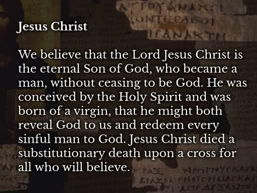 Doctrinal Workshop - Jesus Christ