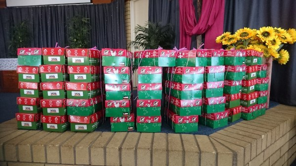 Christmas Boxes ready to be sent