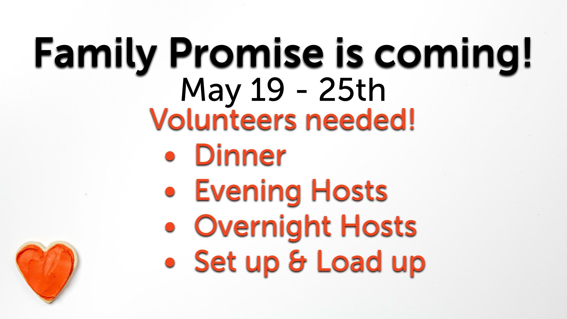 Family Promise Is Coming!