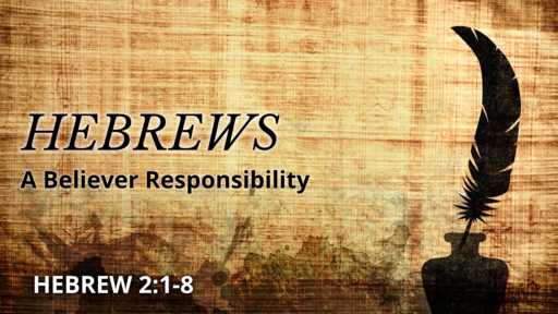 May 12, 2019 A Believer Responsibility