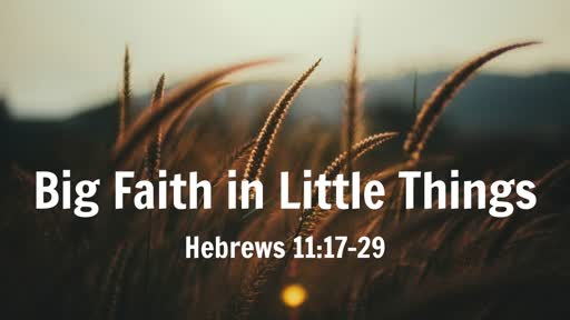 Big Faith in Little Things (Hebrews 11:17-29)