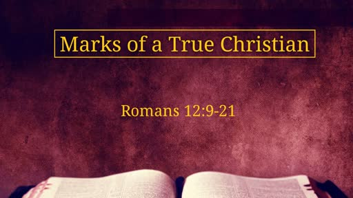 Romans 12:9-21: Marks of a True Christian