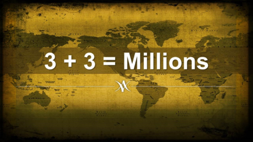3 + 3 = millions