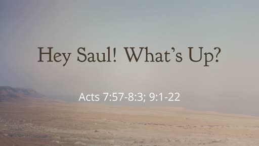 Hey Saul! What's Up?