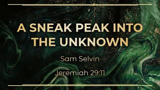 A Sneak Peek into the Unknown
