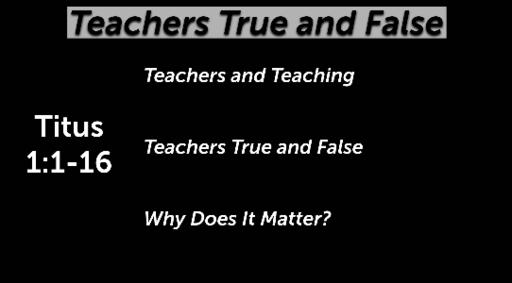 Teachers True and False