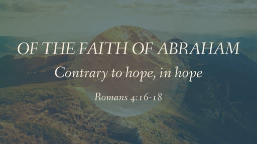 Of the Faith of Abraham