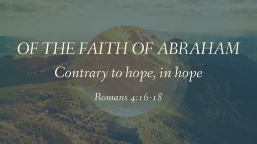 Of the Faith of Abraham