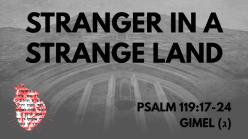 Stranger In A Strange Land: Psalm 119:17-24 Gimel(ב)