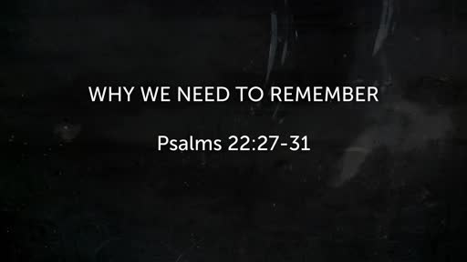 May 26 - Remembrance
