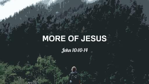 5/26/2019 More of Jesus: John 10:10-14