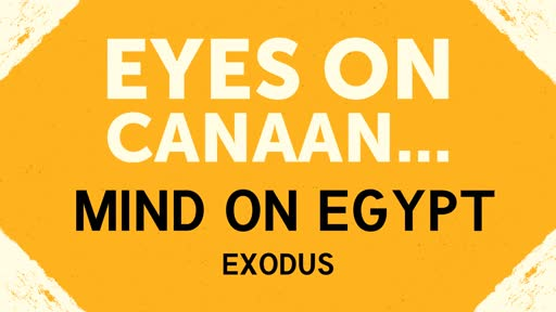 Eyes on Canaan...Minds on Egypt
