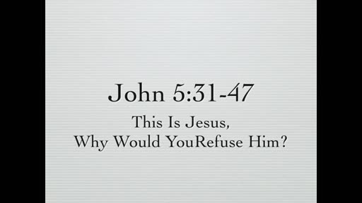 This is Jesus, Why Would You Refuse Him?