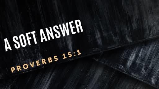 373 - A Soft Answer