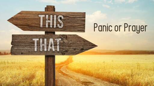 Panic or Prayer