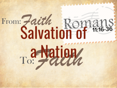 Salvation of a Nation