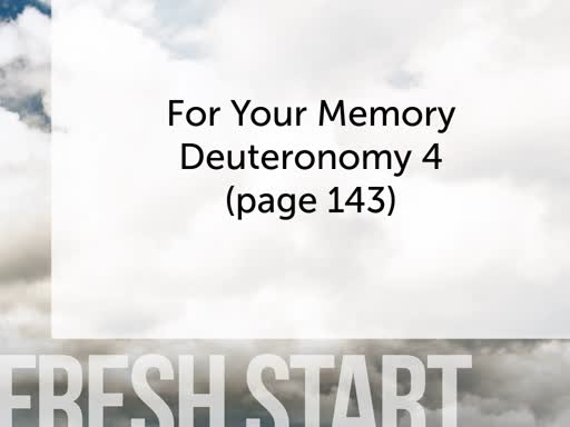 Fresh Start With Your Memory