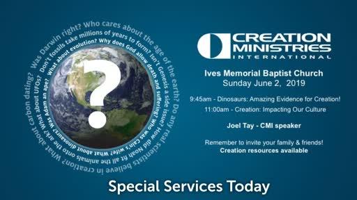 Sunday June 2nd: Creation Ministries International