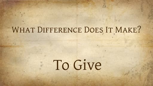 What Difference Does It Make to Give?