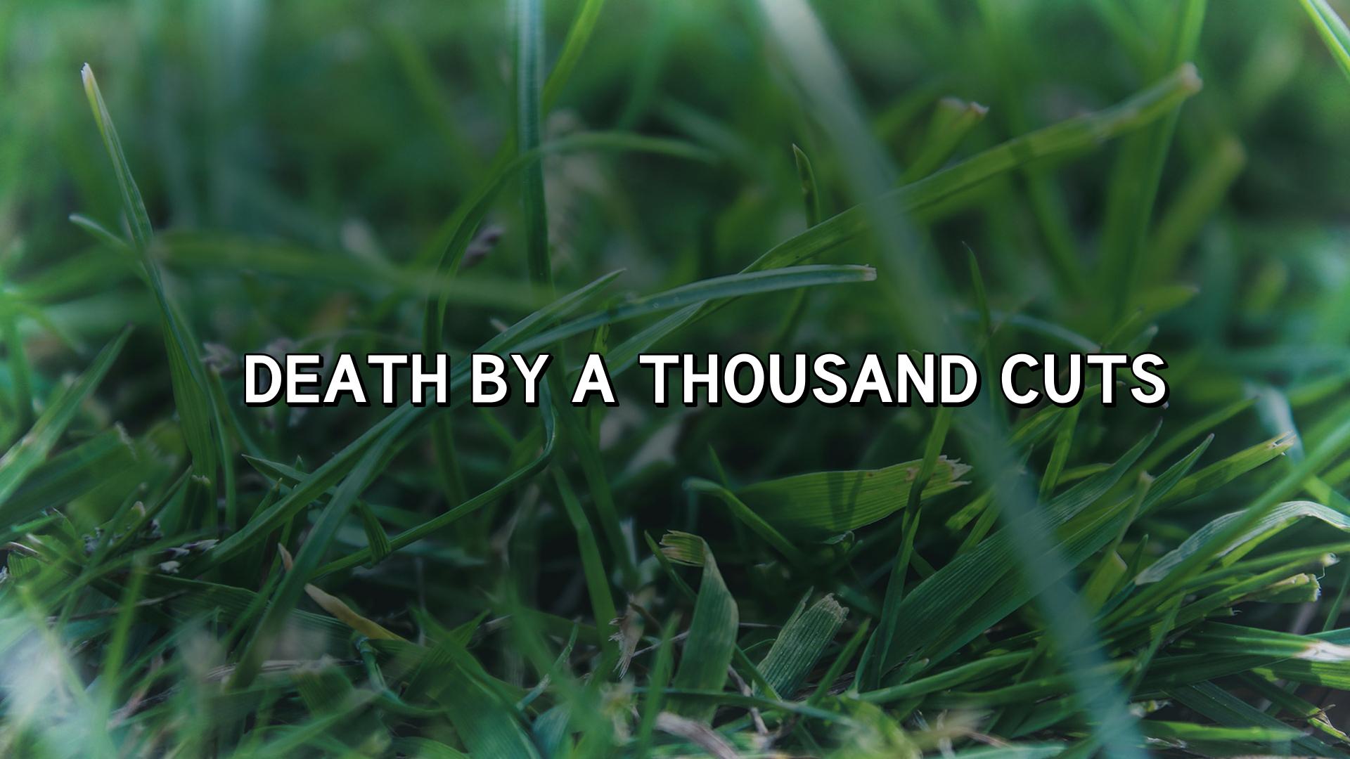 Death by a Thousand Cuts | HIGH POINTE CHURCH