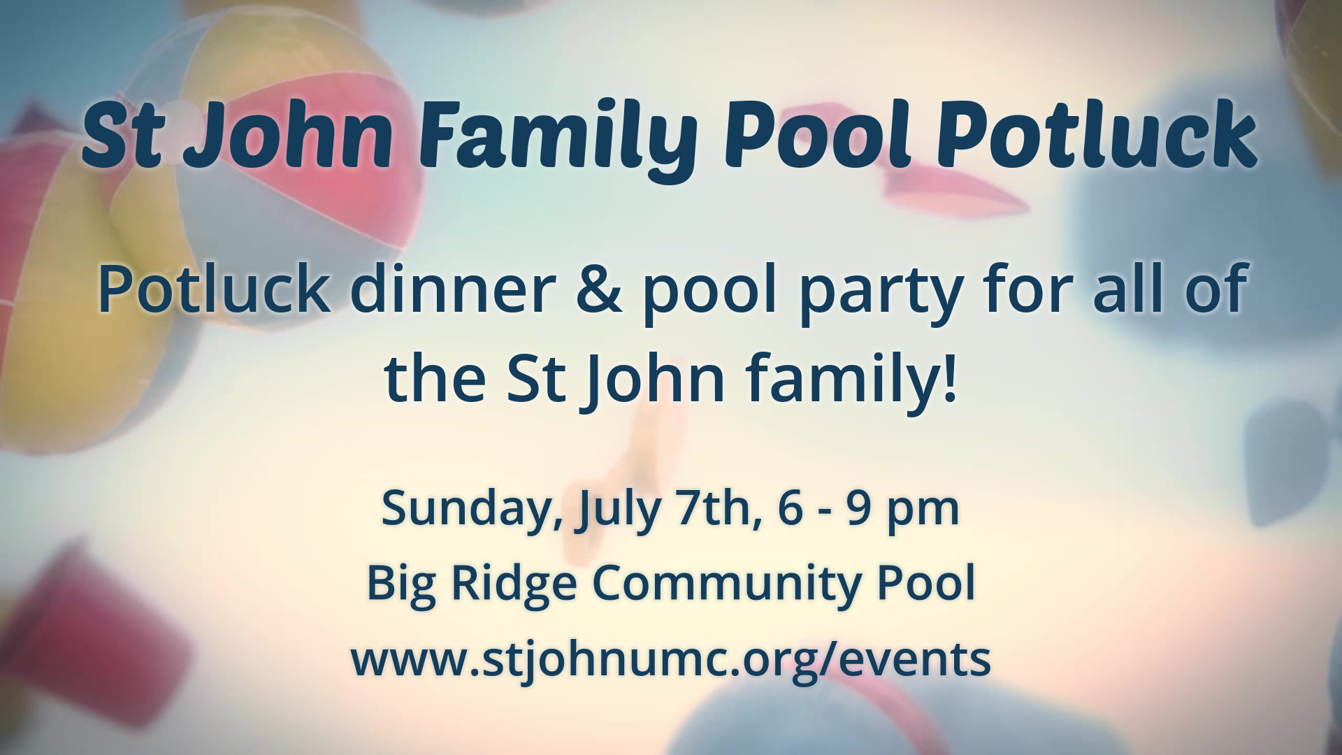 St John Family Pool Potluck