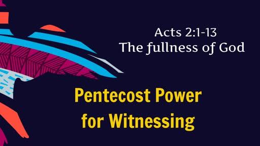 Pentecost Power for Witnessing