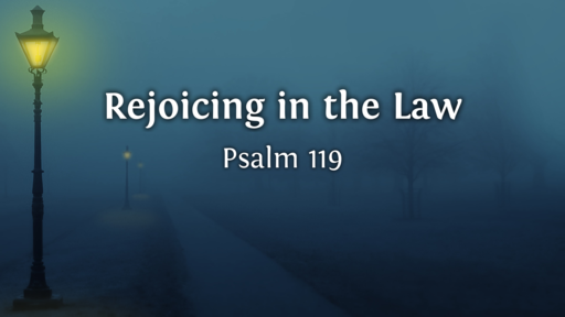 Rejoicing in the Law