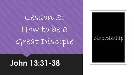 How To Be A Great Disciple