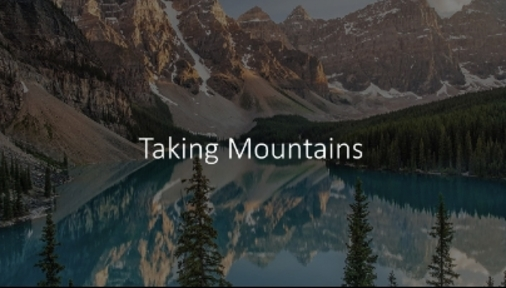 Taking Mountains