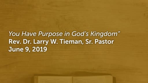 June 9, 2019 - Esther - You Have Purpose in God's Kingdom