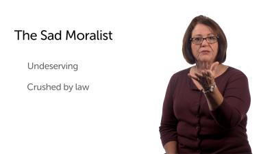 The Sad Moralist: Before the Cross