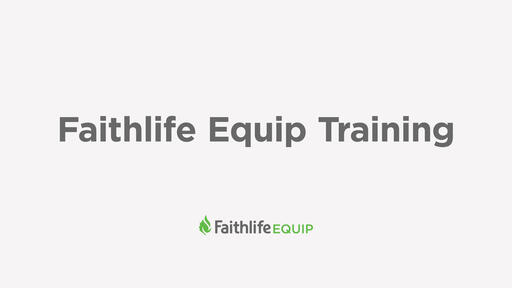 Faithlife Equip Training