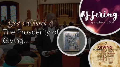 God's Church & The Prosperity of Giving