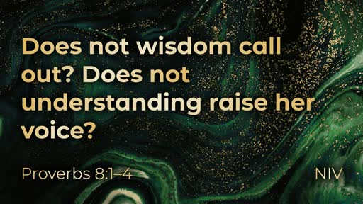Wisdom and the presence of God