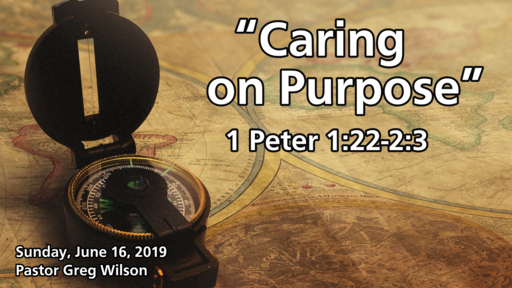 6 16 19 Sermon - Caring On Purpose