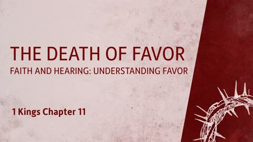 The Death of Favor