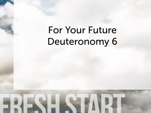 Fresh Start on the Future