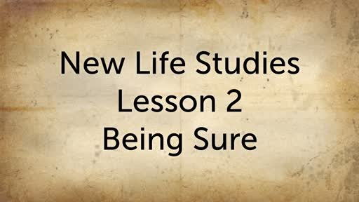Lesson 2 - Being Sure
