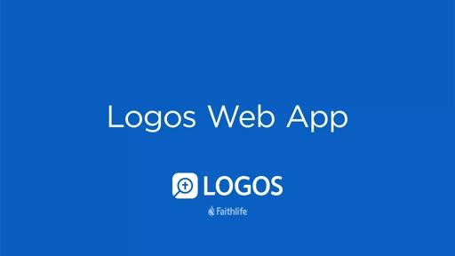 Logos Web App   Getting Started Tutorial